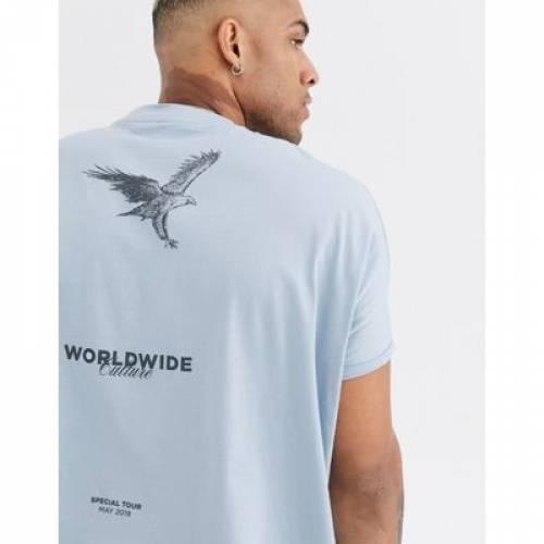 スリーブ Tシャツ メンズファッション トップス カットソー 【 SLEEVE ASOS DESIGN ORGANIC COTTON EXTREME OVERSIZED ROLL TSHIRT WITH BACK AND FRONT PRINT 】