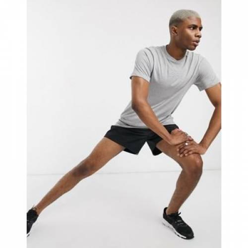 リーボック トレーニング Tシャツ 灰色 グレ メンズファッション トップス カットソー 【 REEBOK TRAINING TSHIRT IN GREY MELANGE 】