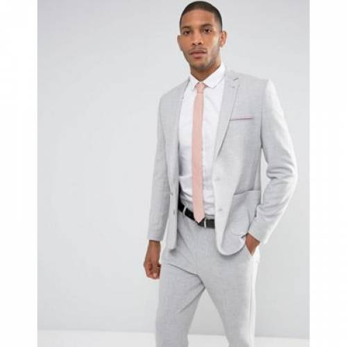 GRAY灰色 グレイ ピンク メンズファッション コート ジャケット 【 GREY PINK ASOS DESIGN SKINNY SUIT JACKET IN WITH CONTRAST SCUBA LINING 】 ※セットアップではありません