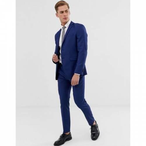 プレミアム スリム 青 ブルー & メンズファッション コート ジャケット 【 PREMIUM SLIM BLUE JACK JONES FIT STRETCH SUIT JACKET IN 】 ※セットアップではありません