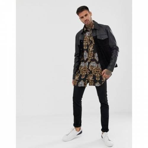メンズファッション トップス カジュアルシャツ 【 ASOS DESIGN 90S OVERSIZED BAROQUE PRINT SHIRT 】