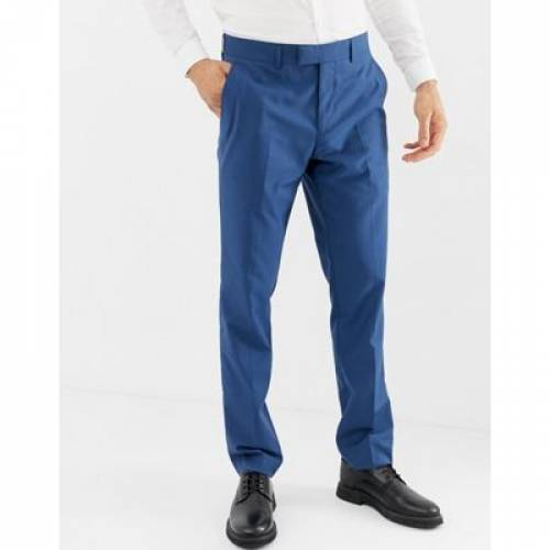 青 ブルー メンズファッション ズボン パンツ 【 BLUE FARAH HENDERSON SKINNY FIT SUIT TROUSERS IN 】