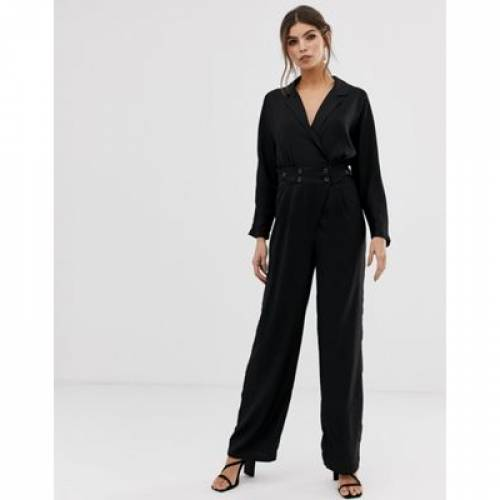 Y.A.S レディースファッション オールインワン サロペット 【 JUMPSUIT WITH BUTTON WAIST 】