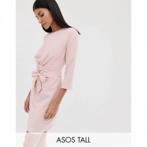 ラップ アラウンド ドレス レディースファッション ワンピース 【 WRAP ASOS DESIGN TALL TIE AROUND MINI DRESS 】