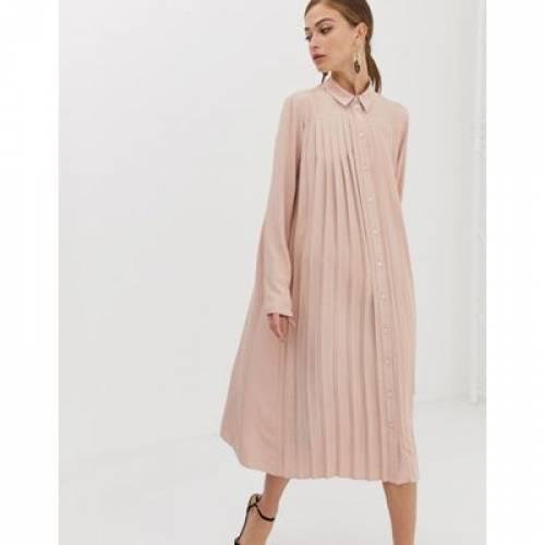 【海外限定】ドレス レディースファッション ワンピース 【 ASOS DESIGN PLEATED MIDI SHIRT DRESS 】