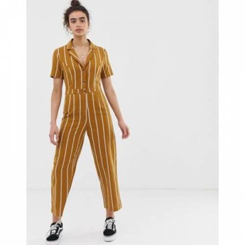パーク レディースファッション オールインワン サロペットEMORY PARK TAILORED JUMPSUIT IN PINSTRIPEwnN0v8Om
