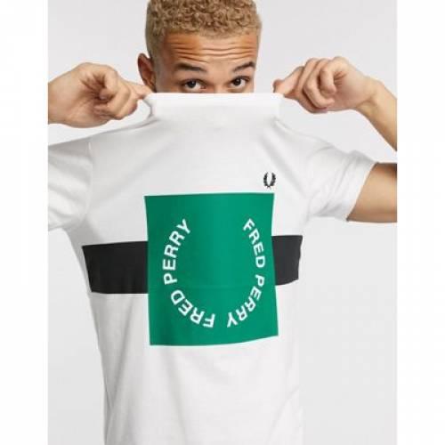 グラフィック Tシャツ 白 ホワイト メンズファッション トップス カットソー 【 WHITE FRED PERRY BOLD GRAPHIC TSHIRT IN 】