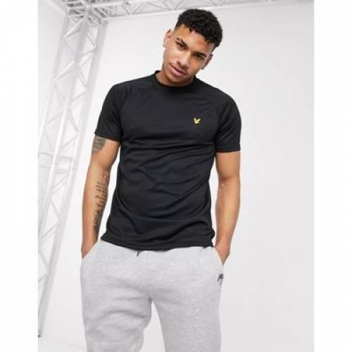 コア ラグラン Tシャツ 黒 ブラック & メンズファッション トップス カットソー 【 RAGLAN BLACK LYLE SCOTT CORE TSHIRT IN 】