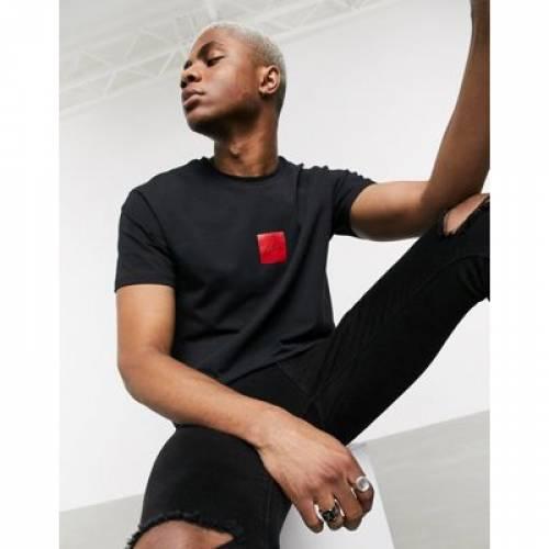 クラブ ボックス Tシャツ 黒 ブラック メンズファッション トップス カットソー 【 BLACK THE COUTURE CLUB BOX LABEL TSHIRT IN 】