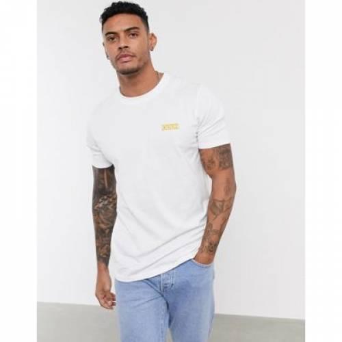 ボックス ロゴ Tシャツ 白 ホワイト メンズファッション トップス カットソー 【 WHITE HUGO DURNED202 SMALL BOX LOGO TSHIRT IN 】