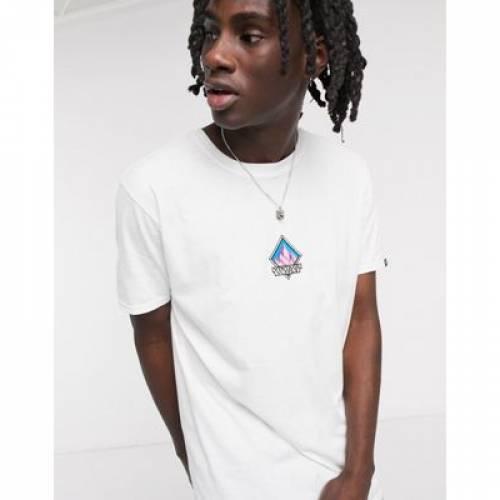 ビンテージ ヴィンテージ サプライ Tシャツ 白 ホワイト メンズファッション トップス カットソー 【 VINTAGE SUPPLY WHITE MOUNTAIN EMBROIDERY TSHIRT IN 】