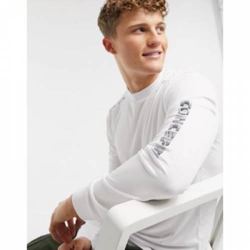 スリーブ 白 ホワイト メンズファッション トップス Tシャツ カットソー 【 SLEEVE WHITE RIVER ISLAND CONCEPT LONG TOP IN 】