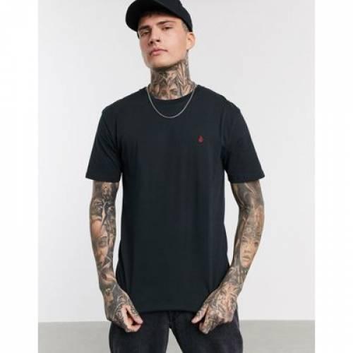ボルコム Tシャツ 黒 ブラック メンズファッション トップス カットソー 【 VOLCOM BLACK STONE BLANKS TSHIRT IN 】