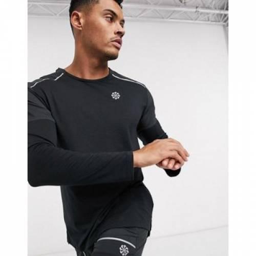 ライズ スリーブ 黒 ブラック メンズファッション トップス Tシャツ カットソー 【 SLEEVE BLACK NIKE RUNNING RISE 365 LONG TOP IN 】