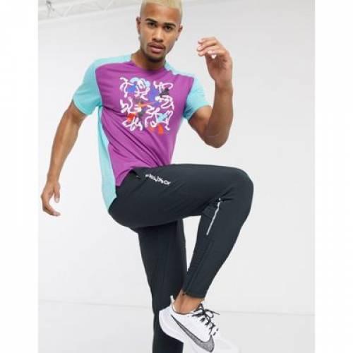 ライズ Tシャツ 紫 パープル メンズファッション トップス カットソー 【 PURPLE NIKE RUNNING TOKYO RISE 365 TSHIRT IN 】