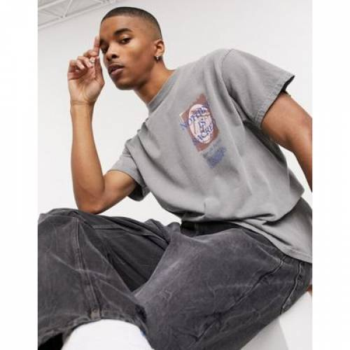 Tシャツ GRAY灰色 グレイ メンズファッション トップス カットソー 【 GREY NOTHING IS SACRED FALLEN SINS BACK PRINT TSHIRT IN 】