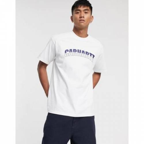 ロゴ Tシャツ 白 ホワイト メンズファッション トップス カットソー 【 WHITE CARHARTT WIP DISTRICT LOGO TSHIRT IN 】
