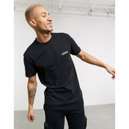 Tシャツ 黒 ブラック メンズファッション トップス カットソー 【 BLACK NAPAPIJRI SASE TSHIRT IN 】