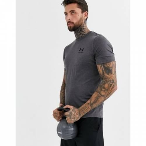 ロゴ Tシャツ GRAY灰色 グレイ メンズファッション トップス カットソー 【 GREY UNDER ARMOUR LOGO TSHIRT IN 】