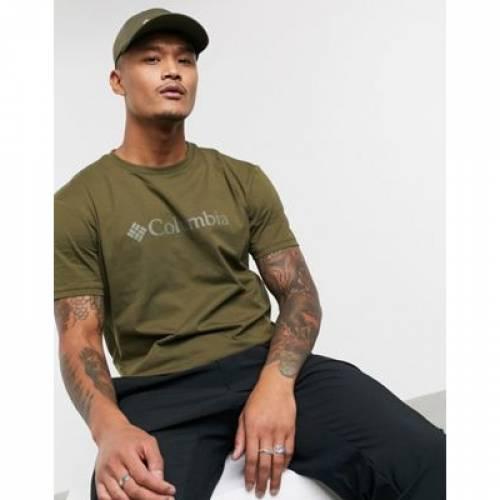 ロゴ Tシャツ カーキ メンズファッション トップス カットソー 【 COLUMBIA CSC BASIC LOGO TSHIRT IN KHAKI 】