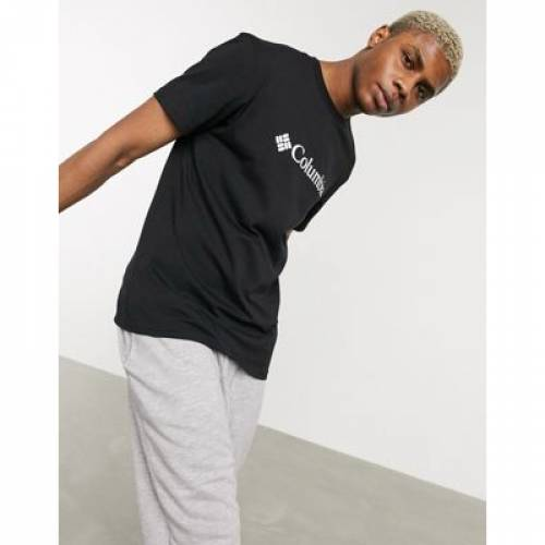 ロゴ Tシャツ 黒 ブラック メンズファッション トップス カットソー 【 BLACK COLUMBIA CSC BASIC LOGO TSHIRT IN 】