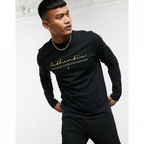 スリーブ Tシャツ オーセンティック メンズファッション トップス カットソー 【 SLEEVE ASOS DESIGN LONG TSHIRT WITH AUTHENTIC PRINT 】