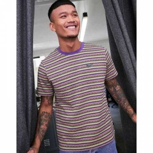 ハフ Tシャツ 紫 パープル メンズファッション トップス カットソー 【 HUF PURPLE ALLEN KNITTED TSHIRT IN 】