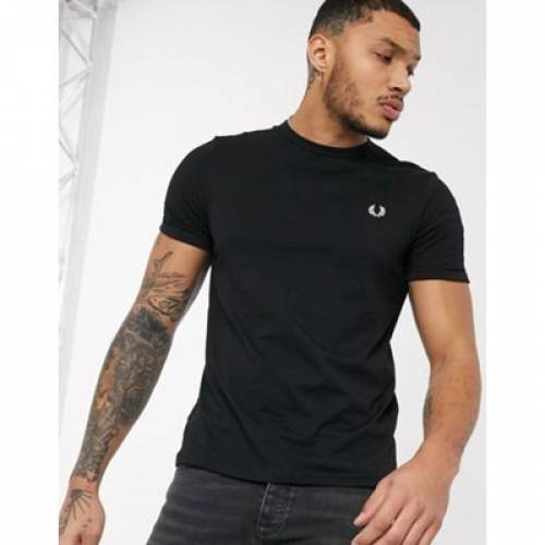 Tシャツ 黒 ブラック メンズファッション トップス カットソー 【 BLACK FRED PERRY RINGER TSHIRT IN 】
