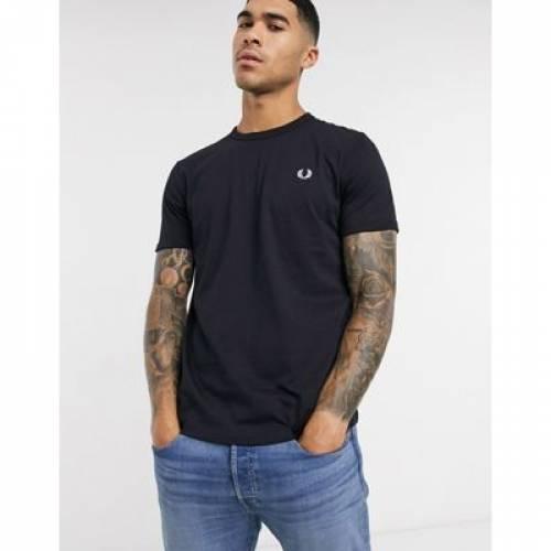Tシャツ 紺 ネイビー メンズファッション トップス カットソー 【 NAVY FRED PERRY RINGER TSHIRT IN 】