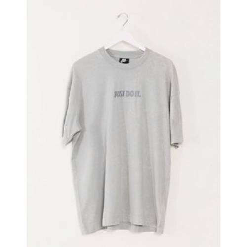 Tシャツ 灰色 グレ メンズファッション トップス カットソー 【 NIKE JUST DO IT WASHED TSHIRT IN GREY 】