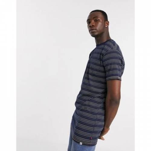 デューク ストライプ Tシャツ メンズファッション トップス カットソー 【 STRIPE DUKE TALL PRINTED TSHIRT WITH CHEST POCKET 】