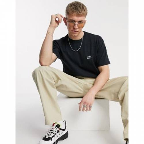 Tシャツ 黒 ブラック メンズファッション トップス カットソー 【 BLACK OBEY ANGEL BACK PRINT TSHIRT IN 】