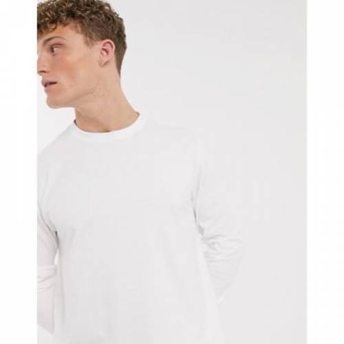 ロゴ スリーブ 白 ホワイト メンズファッション トップス Tシャツ カットソー 【 SLEEVE WHITE AMERICAN EAGLE LOGO LONG TOP IN 】