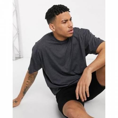 Tシャツ GRAY灰色 グレイ メンズファッション トップス カットソー 【 GREY ASOS DESIGN OVERSIZED LONGLINE TSHIRT WITH CREW NECK IN 】