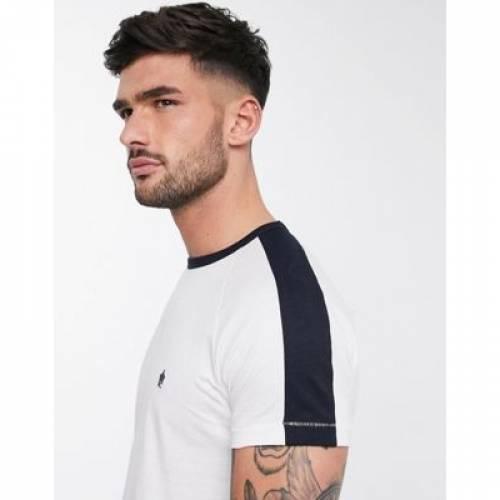 Tシャツ メンズファッション トップス カットソー 【 FRENCH CONNECTION PANEL TSHIRT 】