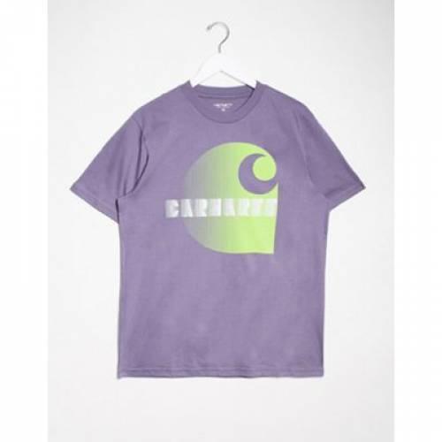 Tシャツ 紫 パープル メンズファッション トップス カットソー 【 PURPLE CARHARTT WIP ILLUSION TSHIRT IN DECENT 】