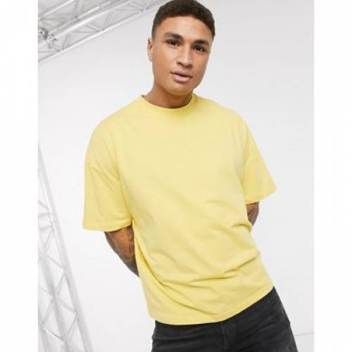 Tシャツ 黄色 イエロー メンズファッション トップス カットソー 【 YELLOW ASOS DESIGN OVERSIZED TSHIRT IN 】