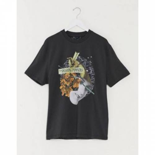 Tシャツ メンズファッション トップス カットソー 【 ASOS DESIGN SMASHING PUMPKINS RELAXED TSHIRT WITH LARGE FRONT PRINT 】