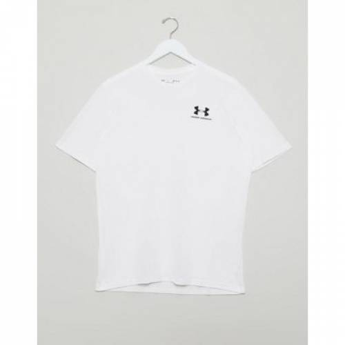 ロゴ Tシャツ 白 ホワイト メンズファッション トップス カットソー 【 WHITE UNDER ARMOUR LOGO TSHIRT IN 】