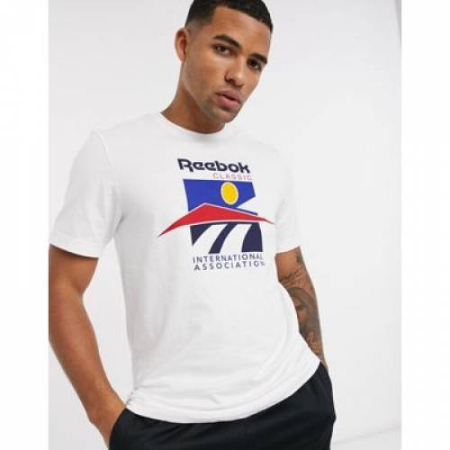 リーボック Tシャツ ロゴ 白 ホワイト メンズファッション トップス カットソー 【 REEBOK WHITE CLASSICS TSHIRT WITH INTERNATIONAL SPORTS LOGO IN 】