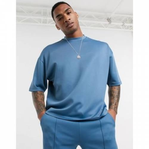 Tシャツ メンズファッション トップス カットソー 【 ASOS DESIGN COORD OVERSIZED TSHIRT IN SCUBA 】