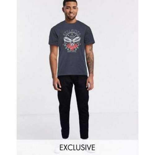 ビンテージ ヴィンテージ Tシャツ メンズファッション トップス カットソー 【 VINTAGE RECLAIMED INSPIRED UNISEX OVERSIZED TSHIRT WITH BAND PRINT AND HOT FIX 】