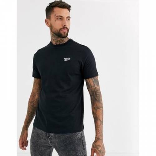 リーボック Tシャツ ロゴ 黒 ブラック メンズファッション トップス カットソー 【 REEBOK BLACK ESSENTIALS TSHIRT WITH VECTOR LOGO IN 】