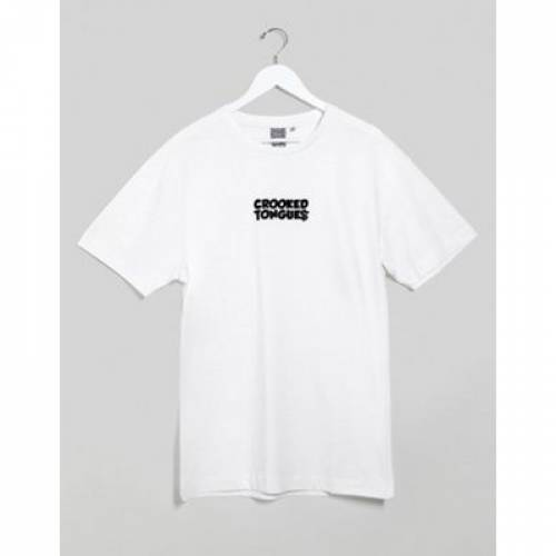 Tシャツ ロゴ メンズファッション トップス カットソー 【 CROOKED TONGUES TSHIRT WITH LOGO PRINT 】
