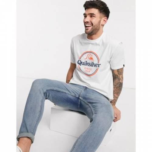 クイックシルバー Tシャツ 白 ホワイト メンズファッション トップス カットソー 【 QUIKSILVER WHITE WORDS REMAIN TSHIRT IN 】