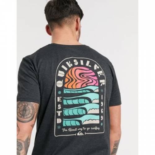 クイックシルバー マジック Tシャツ 黒 ブラック メンズファッション トップス カットソー 【 QUIKSILVER BLACK MAGIC TIDE TSHIRT IN 】