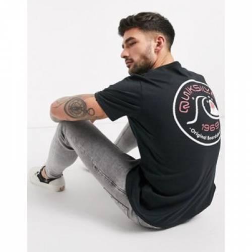 クイックシルバー Tシャツ 黒 ブラック メンズファッション トップス カットソー 【 QUIKSILVER BLACK CLOSE CALL TSHIRT IN 】