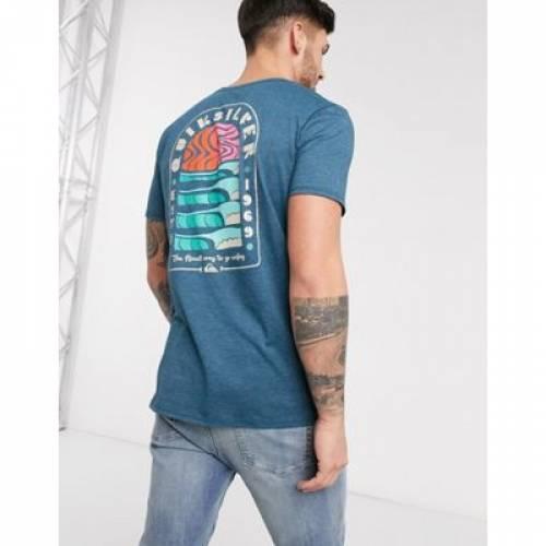 クイックシルバー マジック Tシャツ 青 ブルー メンズファッション トップス カットソー 【 QUIKSILVER BLUE MAGIC TIDE TSHIRT IN 】