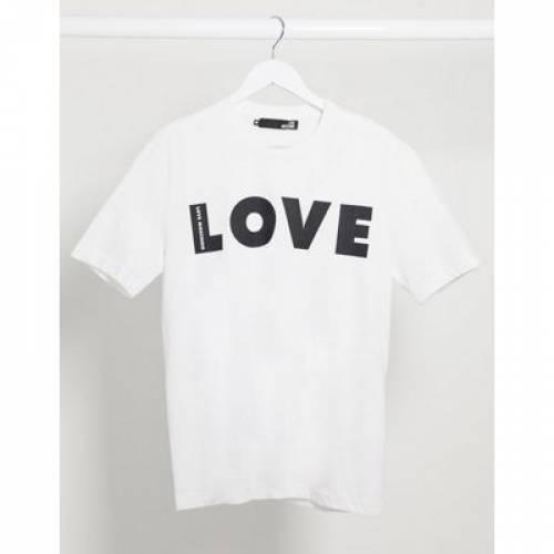 Tシャツ メンズファッション トップス カットソー 【 LOVE MOSCHINO TSHIRT 】