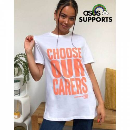 Tシャツ メンズファッション トップス カットソー 【 CHOOSE LOVE X OUR CARERS UNISEX CHARITY TSHIRT EXCLUSIVE TO ASOS 】